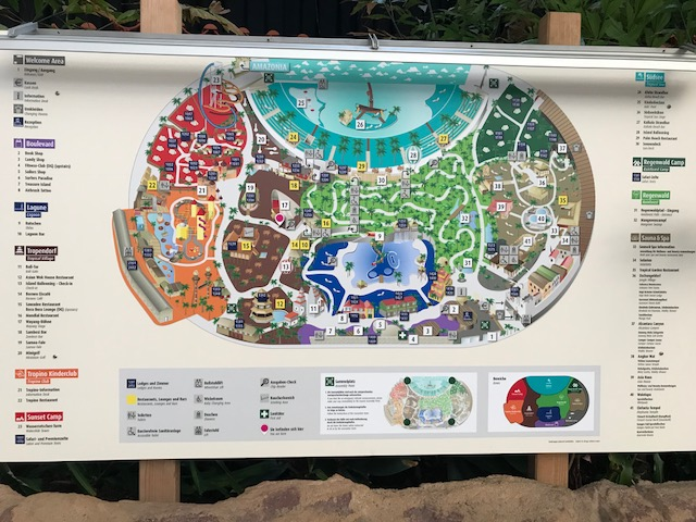 Atrakcje w tropical Island mapka